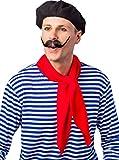 Kostüm Zubehör Baskenmütze Franzose Karneval Fasching Party