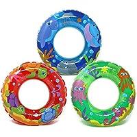 com-four® 3X Neumático de natación, Anillo de natación con Varios Motivos de