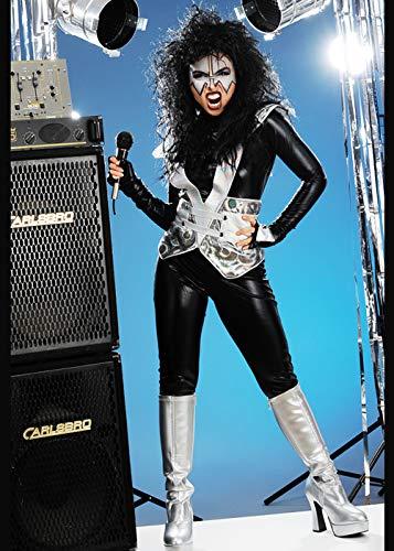 Magic Box Int. Glam Rock Kostüm für Damen Small (UK 8-10) (Glam Rock Kostüm Für Damen)