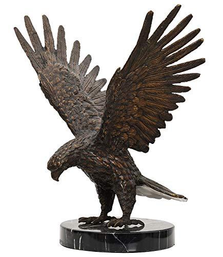 aubaho Bronze Skulptur Figur Adler Eagle Bronzeskulptur 33cm Bronzefigur