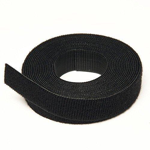 Velcro Brand Riutilizzabili Cravatte - Nero - 1CM X 25M