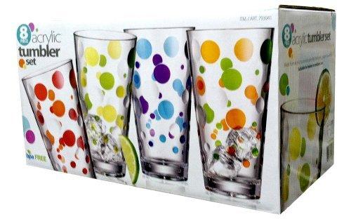 8pc-polka-dot-acrylic-tumbler-set-24oz-capacity-single-by-costco