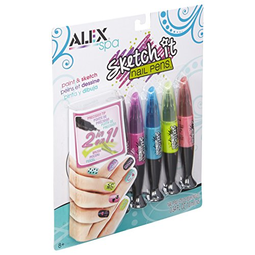 Alex Toys Various Sketch It Nail Pens-Hot Hues