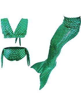 [Sponsorizzato]Le SSara Ragazze Cosplay cavezza collo Costumi da bagno sirena Shell Costume da bagno 3pcs Bikini Set