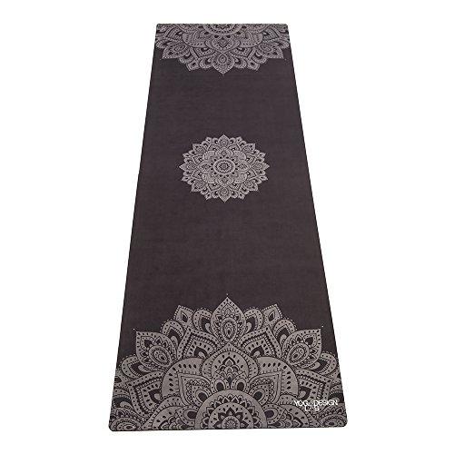 Yoga Design Lab La Esterilla de Yoga Combo 3.5mm. Dos en Uno | Antideslizante | Acolchada | Ecológica | Lavable a la Máquina (Mandala Black)
