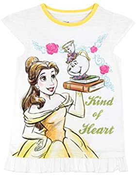 Disney La Bella y La Bestia - Camiseta Para Niñas - Beauty and The Beast