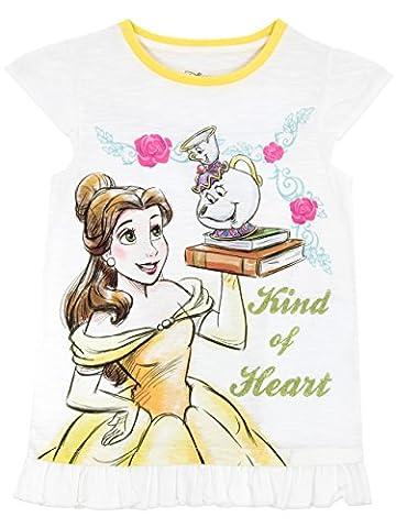 Disney Die Schöne und das Biest Mädchen Beauty and the Beast T-Shirt (Prinzessin Gekräuselten)