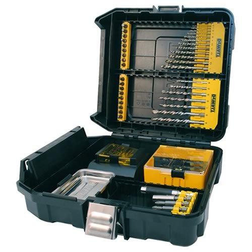 DeWalt Maxisafe-Zubehörkoffer XL (63-tlg. Set, mit Extreme DeWalt Steinboher und Metallbohrer, Bits 25 mm, Bits 50 mm und Magnet-Bithalter) DT9281 -