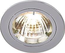 Knightsbridge - Faretto a incasso in alluminio IP20, 230 V/12 V, GU10/MR16 RD1C. Finitura cromata