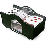 Karten-Mischmaschine - Kartenmischmaschine Aus Kunststoff mit zwei Einlagefächern und einem Ausgabefach. Mit Mischkurbel. - Kartenspielen ist sehr beliebt. Doch das Mischen der Karten ist für viele Spieler ein Problem. Mit der elektrischen Kartenmischmaschine werden die Karten perfekt gemischt - und es kann nicht geschummelt werden.
