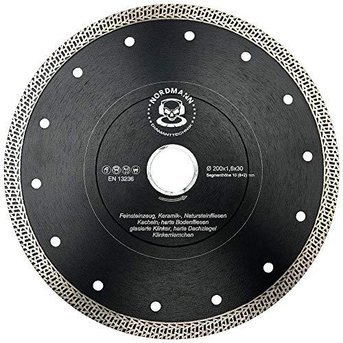 FS-850 speed - Diamant-Trennscheibe - 200 x 25,4 mm - high performance Fliesen-Scheibe mit besonders dünnem Schneidrand und spezieller Segmentgeometrie für höchste Schnittgeschwindigkeiten -