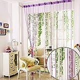 Vidillo Fadenvorhang, Fadenvorhang perlenvorhang, 100 x 200 cm Wandvorhang Schaufensterdekoration Mehrfarbig (Weiß,Lila,Grau,Blau) für hochzeit balkontür (Lila)