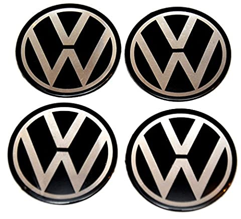 4x 70 mm Diameter Set Ersatzartikel Wheel Centre Caps Sticker Self Adhesive Emblem Decals Cheap Aufkleber Emblem für Felgen Nabendeckel (Vw Emblem)