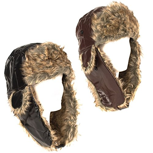 Aviator Faux Fur Russian Style Trapper Hat
