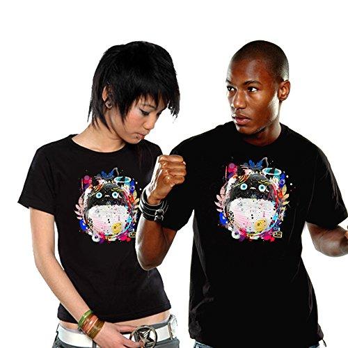 Totoro Herren T-Shirt Toneko zum Anime Baumwolle schwarz Schwarz
