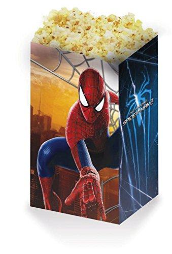 Procos - Set 4 Contenitori Pop Corn Per Festa A Tema Spiderman