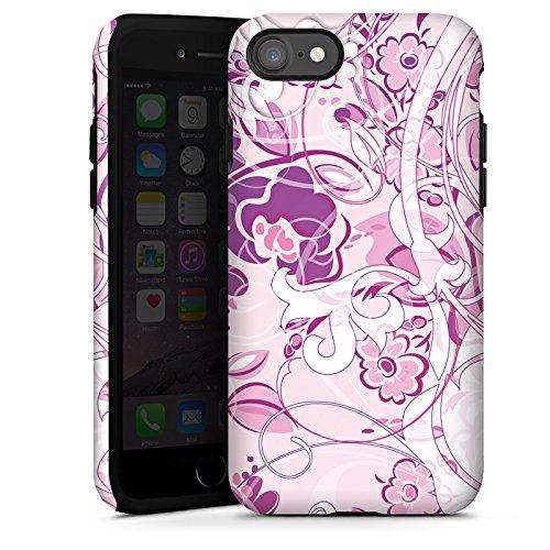 Apple iPhone X Silikon Hülle Case Schutzhülle Muster Blumen Floral Tough Case glänzend
