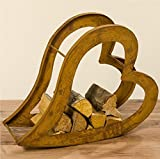 Regal für Holz Herz L73cm Material: Eisen
