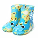 Huhua Kids Wellies, Plus Velour Waterproof Child Rubber Boys Girls Dot Print Rain Boots Kids Children Rain Shoes For 1-6 Years Old