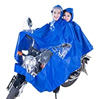 FORTR home Raincoat/poncho Men And Women Outdoor Riding Electric Battery Motorcycle Double Poncho (Size : XXXXX-Large)