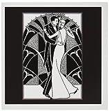 """3drose GC 41536Issac 16x 15,2cm""""Art Déco Couple dansant"""" carte de voeux (lot de 6)"""