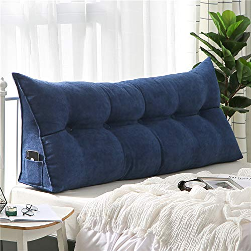 Tagesbett-bett-tasche (PP&DD Dreieck Abnehmbare Bett Kissen,Single Doppelte rückenlehne,Tatami Lange Kissen,Sofa Kissen Kopfpolster Bett-F 100x50x20cm(39x20x8))