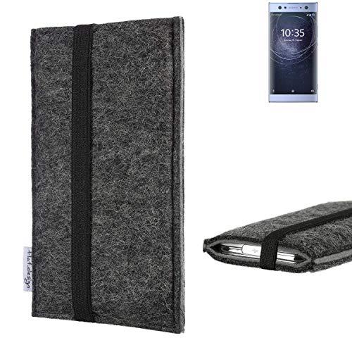 flat.design Handyhülle Lagoa für Sony Xperia XA2 Ultra Dual-SIM | Farbe: anthrazit/grau | Smartphone-Tasche aus Filz | Handy Schutzhülle| Handytasche Made in Germany