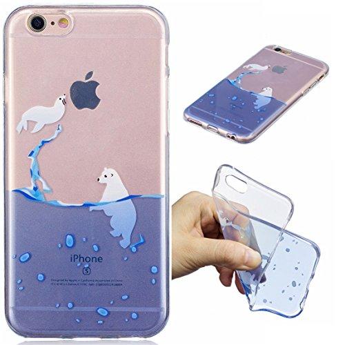 iPhone 6 Plus/6S Plus Hülle, Voguecase Silikon Schutzhülle / Case / Cover / Hülle / TPU Gel Skin für Apple iPhone 6 Plus/6S Plus 5.5(Seehund) + Gratis Universal Eingabestift Seehund