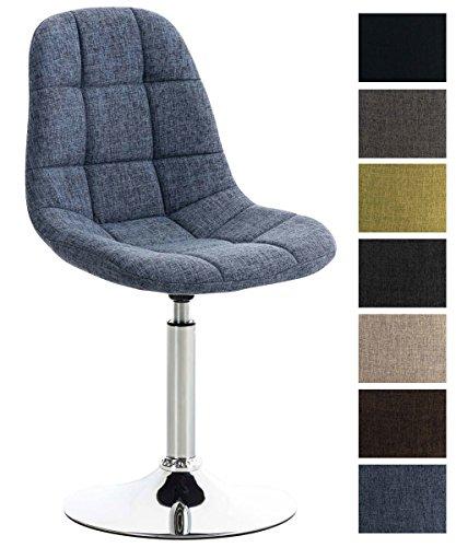 avec en Lounge Métal à avec de Pivotante Salle CLP Revêtement Tissu piètement – Chaise en Aspect Emil – Manger – Chaise Design Chromé Rembourrée y0nm8OvNw
