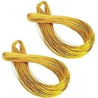 Healifty Hilo metálico Hilo no Estirable para joyería Artesanal y Etiquetas Colgantes 2 Rollos / 100m (Oro)