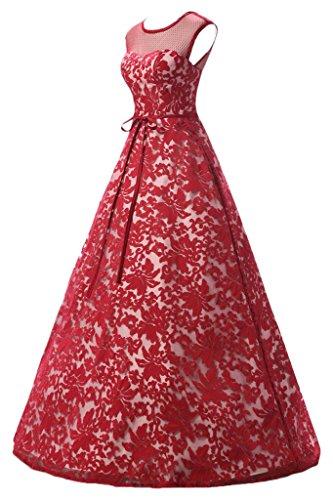 Missdressy - Robe - Trapèze - Femme Rouge - Rouge foncé