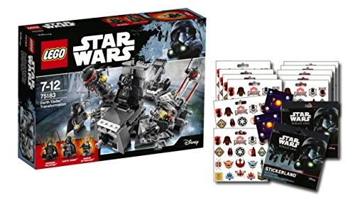 Lego Star Wars 75183 Darth Vader Transformation + 1 Star Wars: Rouge One Stickerbogen