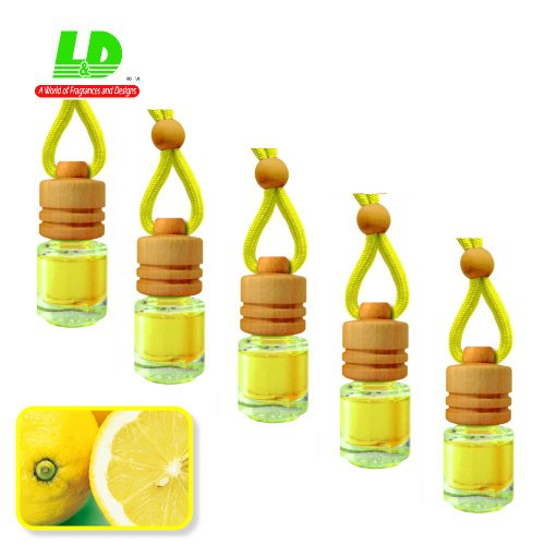 5unidades Aroma frascos elegante para el auto–Limón 25ml–55,96Eur/100ml Auto Ambientador Árbol