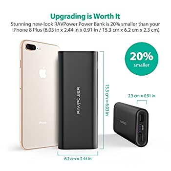 Ravpower Portable Charger 16750mah Upgraded Power Bank 4.5a Dual Usb Output Ultra External Battery Pack For For Iphone, Samsung Galaxy, Tablets & More – Black 1