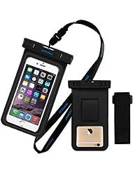 Wasserdichte Schutzhülle mit Armband, Mpow® IPX8Wasserdicht Unterwasser Phone Schutzhülle mit Armband Dry Bag Halterung Wasserdicht Tasche Harmlos PVC & ABS-Konstruktion Tasche für iphone7,6,5, HTC, LG, Sony, Nokia