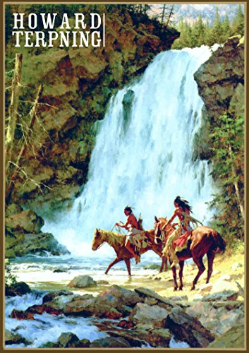 Calendrier mural 2018 [12 pages 20x30cm] Native American Indian Horserider by Howard Terpning Vintage Art affiche [Calendar]