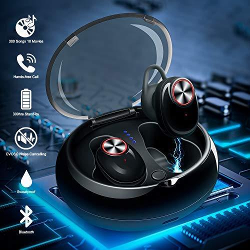 Mini Kopfhörer Bluetooth, in ear kopfhörer bluetooth TWS CVC 6.0 noise cancelling in ear kopfhörer bass Mini Kopfhörer Bluetooth 5.0 true wireless kopfhörer mit tragbare Ladestation( Update-Version)