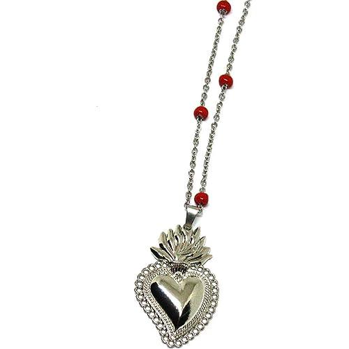 Collana cuore sacro - Collana rosario- Cuore Sacro - Corona di spine