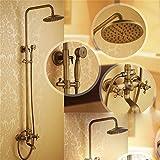SKBE Dusche das ganze Bad Wasserhahn mit warmen und kalten Duschkopf Brausegarnitur Dusche retro