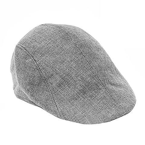 HugeStore Herren Flat Cap Flatcap Schiebermütze Schildmütze Schirmmütze Newsboy Kappe Sportcap Golfmütze (Schildmützen Herren)
