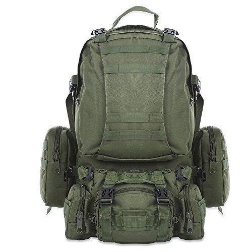 Nacatin 50L Molle Sac de militaire sac de Randonnée pour Trekking Alpinisme Camping Sport