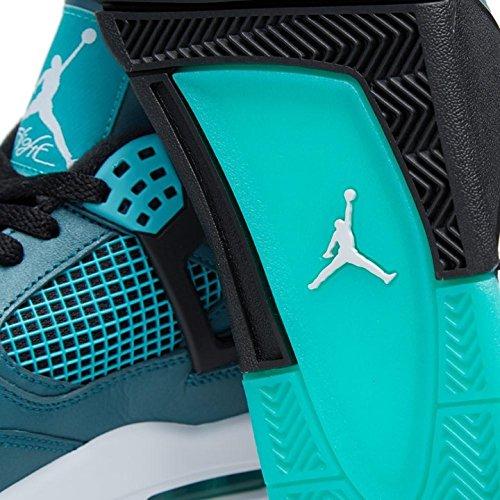 Nike Air Jordan 4 Retro 30th, Chaussures de Sport Homme, Vert Multicolore - Verde / Blanco / Negro (Teal / White-Black-Retro)