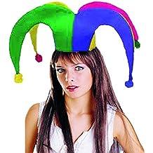 EL CARNAVAL Sombrero Gorro bufón Adulto de Tela c9fb7a1c0a3