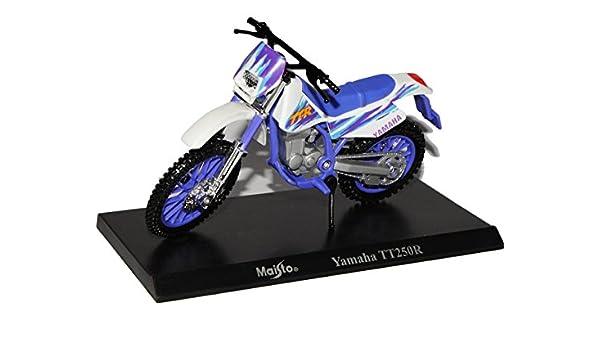 Maisto Yamaha YZF-R1 Blau Schwarz Mit Sockel 1//18 Modell Motorrad mit individiuellem Wunschkennzeichen