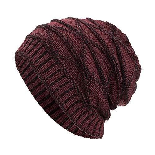 Celucke BeanieHerren Frauen Männer Caps Hüte Mützen Warm Ausgebeult Häkeln Crochet Winter Wolle Stricken Ski Skull Bailey Western Top
