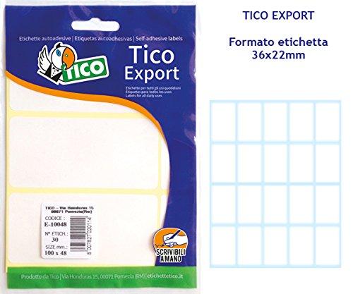 Tico GL4-4416 Etichette Satinate 44 x 16 Dorato