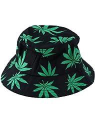 Cosanter Le Nouveau Coton Imprimé Chapeau D'été Maple Leaf Maple Leaf Surmonté Sauvage Quelques Pêcheur Chapeau Chapeaux Seau