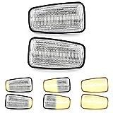 2 x LED Blinker Seitenblinker Blinkleuchte Kotflügel-Blinker mit E-Prüfzeichen White Vision V-172009LG