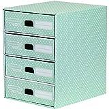 Bankers Box 4481701 Style Series Schubladenturm, grün/weiß