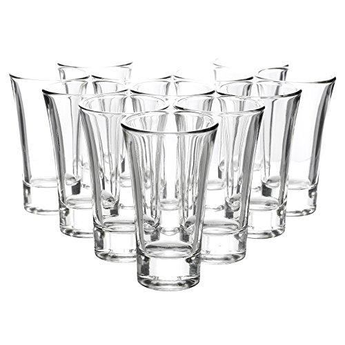 Queensway® - Vasos de chupito de 60 ml, para whisky, vodka, tequila y otras bebidas alcohólicas, 12 Shot Glasses